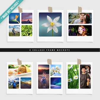 6 collage frame mockups