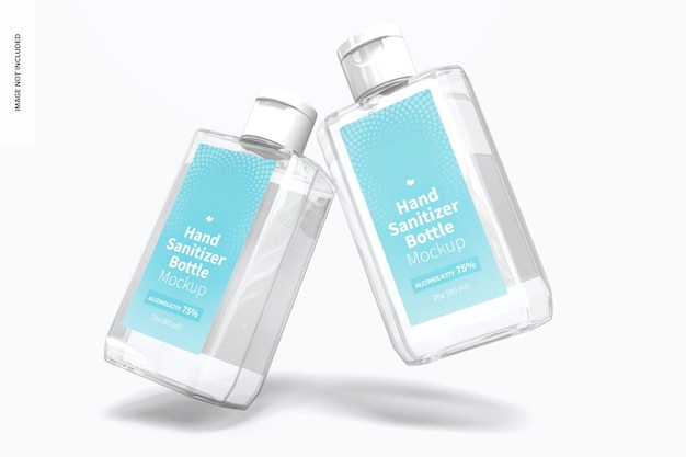 Мокап бутылочек с дезинфицирующим средством для рук 60 мл