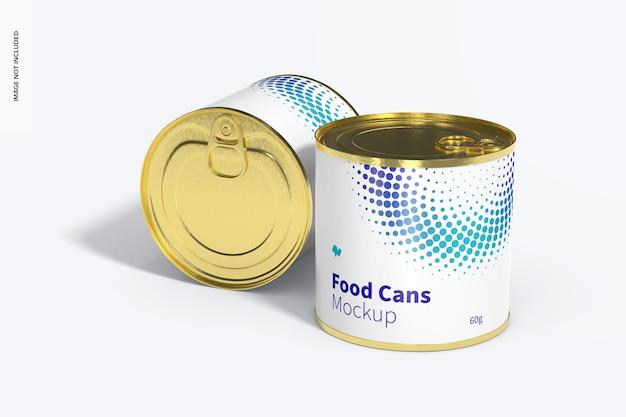 60g food cans mockup