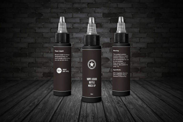 60ml e liquid bottle with twist cap mockup