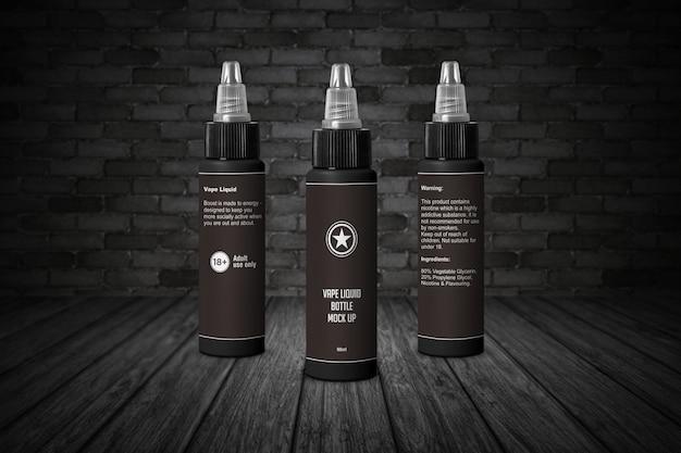 60ml e liquid bottle with twist cap mockup