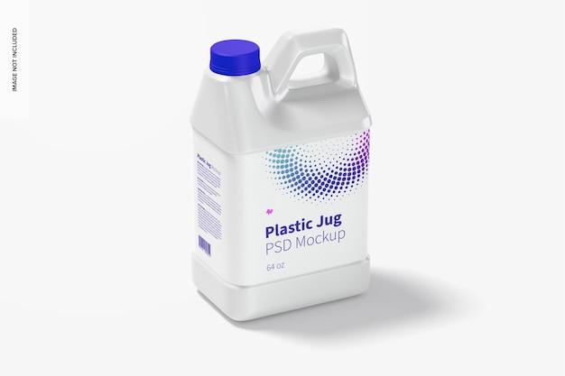 Мокап из пластикового кувшина на 64 унции