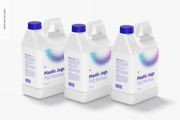 Набор пластиковых кувшинов на 64 унции, мокап