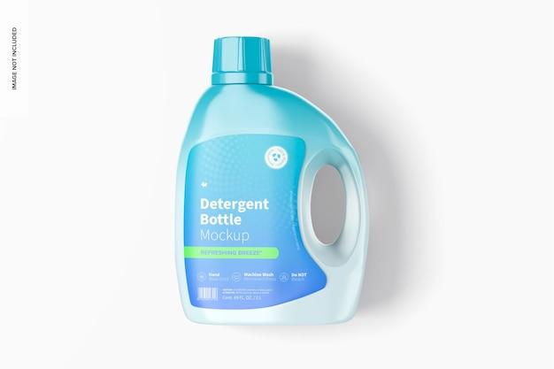 69 oz detergent bottle mockup, top view