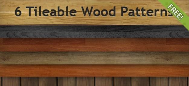 6 бесплатный бесшовное шаблоны древесины