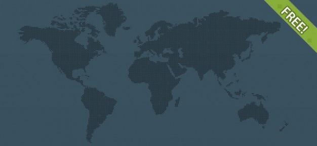 6自由なピクセルの世界地図