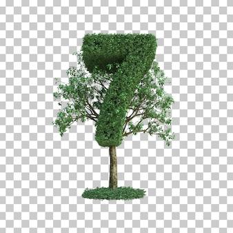 緑の木数7の3 dレンダリング