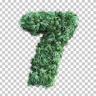大麻番号7の3 dレンダリング