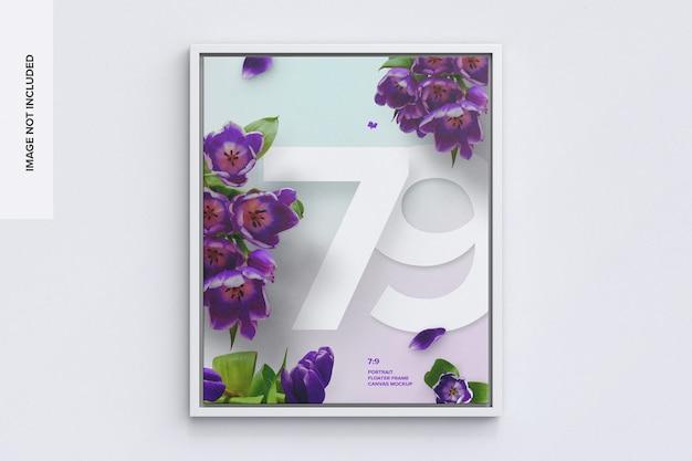 7 : 9 전면의 세로 프레임 모형