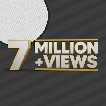 7 million views 3d