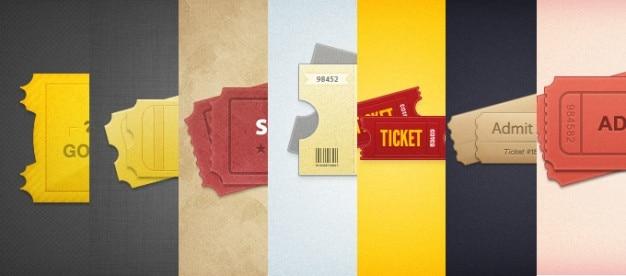 7スタイル設定されたチケット
