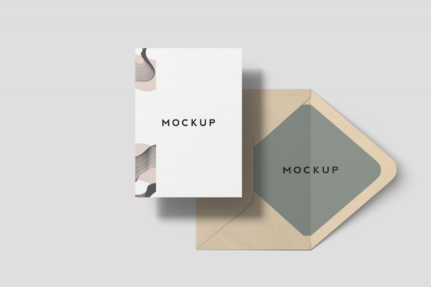 7x5 inches invitation card mockup