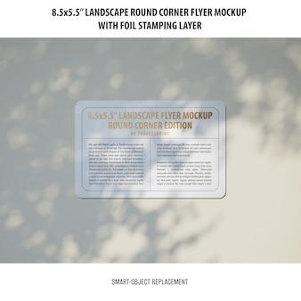 8.5x5.5 мокап пейзаж флаера