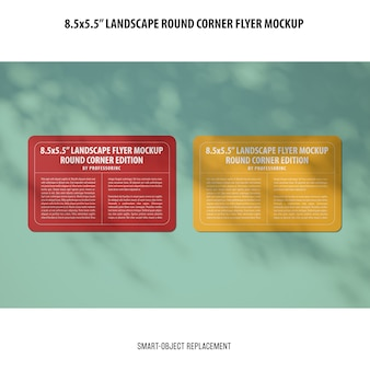 8.5x5.5 landscape flyer mockup