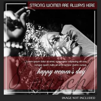 Счастливого женского дня и 8 марта приветствие instagram пост шаблон