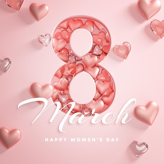 8 марта happy women's day love heart