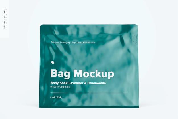 8 oz bag mockup, front view