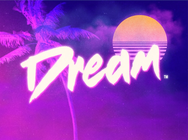 80's text effects  layer style