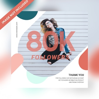 80k followers social media post