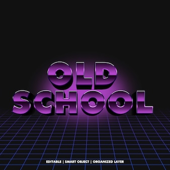 80s style 3d text effect
