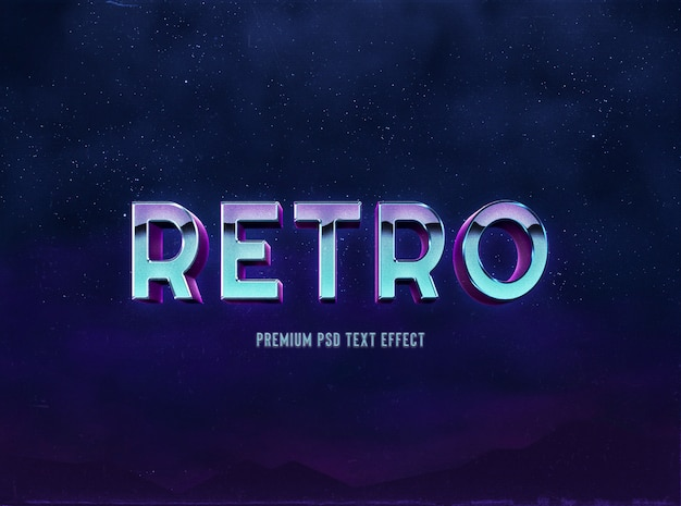 80s style retro and classic text effect template