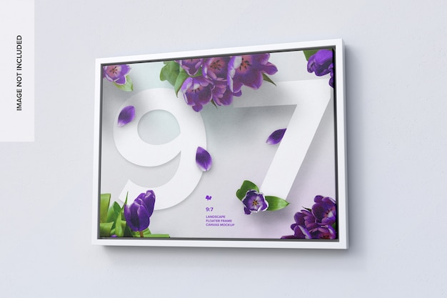 9:7 landscape frame mockup in right view