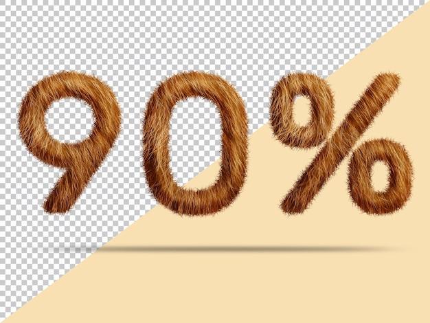 사실적인 3d 모피로 90 %