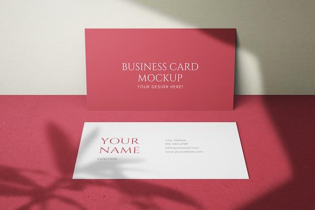 Стильные 90x50mm чистые визитки psd макеты