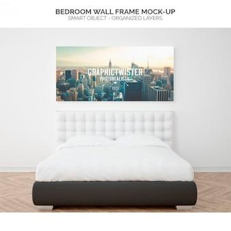 寝室の壁フレームモックアップ