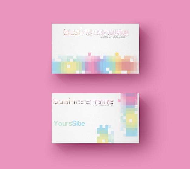Пиксель визитная карточка