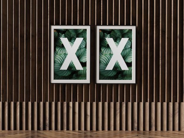 Двойная рамка для плаката на стене