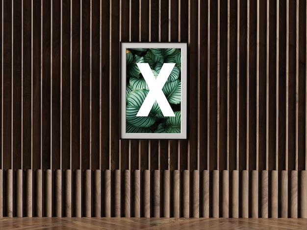 Одинарный плакат на стене