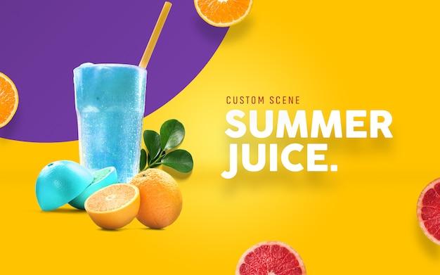 Изготовитель сцены из летнего сока
