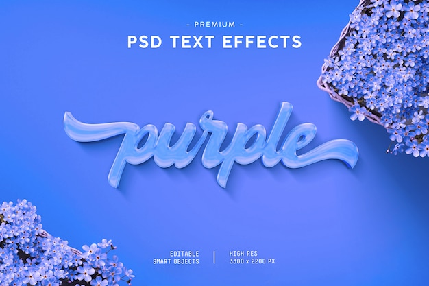 紫色のテキスト効果