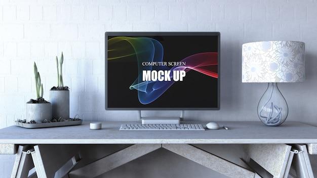 編集可能なコンピューター画面のモックアップ