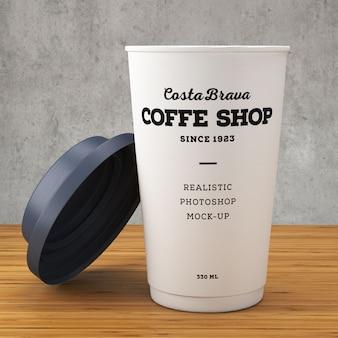 Макет бумажных кофейных чашек