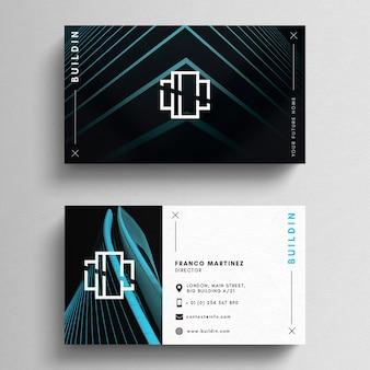 Шаблон современной минимальной визитной карточки
