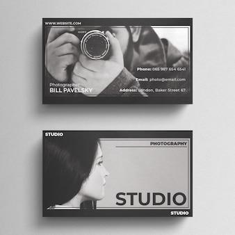 Шаблон визитной карточки для фотографии