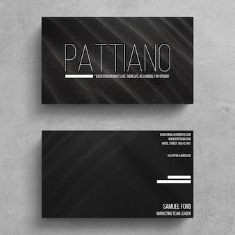 Минимальный шаблон визитной карточки