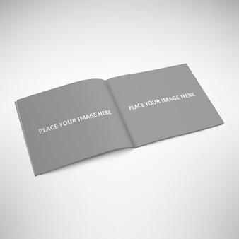 Открыта книга макете