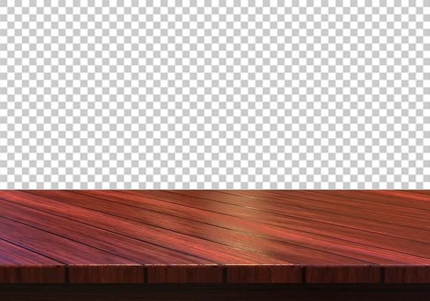 Деревянная столешница, изолированная на прозрачном