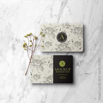 Цветочный макет визитки
