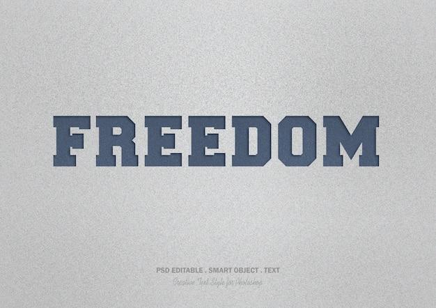 Текстовый эффект свободы