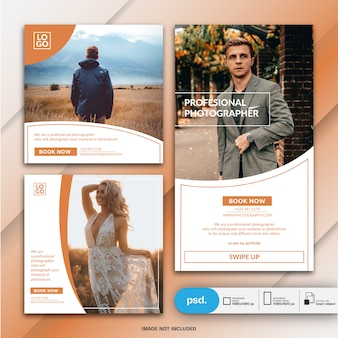 Бизнес-маркетинг социальные медиа баннер шаблон