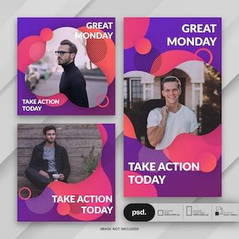 Бизнес-маркетинг социальные медиа баннер