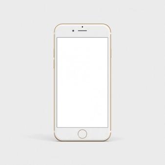 Белый мобильный телефон макете