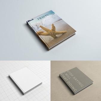 Реалистичная обложка книги макете
