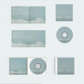 モックアップコンパクトディスクカバー