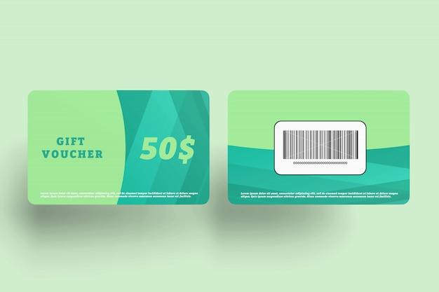 クレジットカードのモックアップ