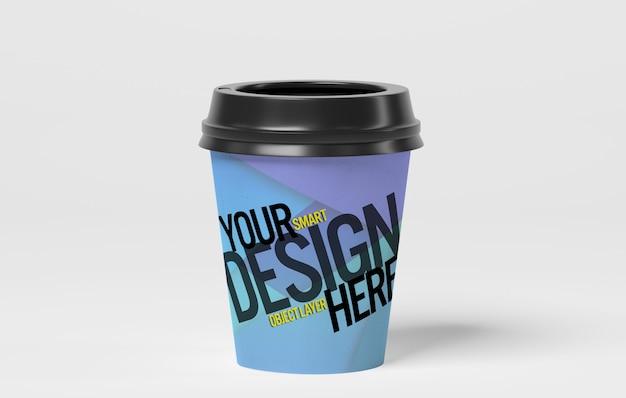 Бумажная чашка кофе макет